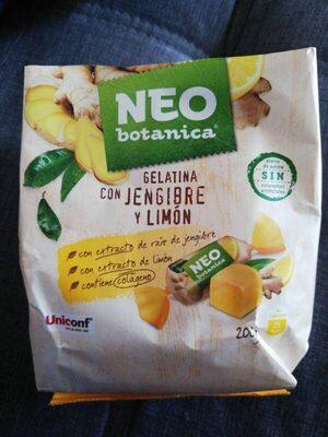 Gelatina con jengibre y limón