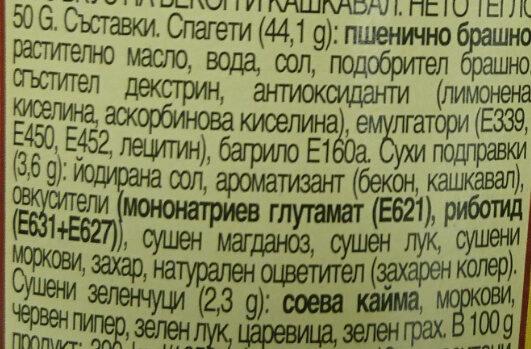 - Ingrediënten - bg