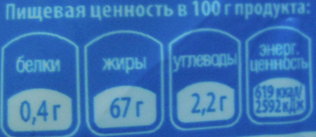 Классический - Nutrition facts - ru