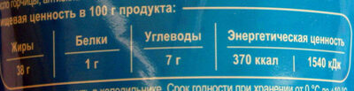 Соус для бутербродов - Nutrition facts - ru