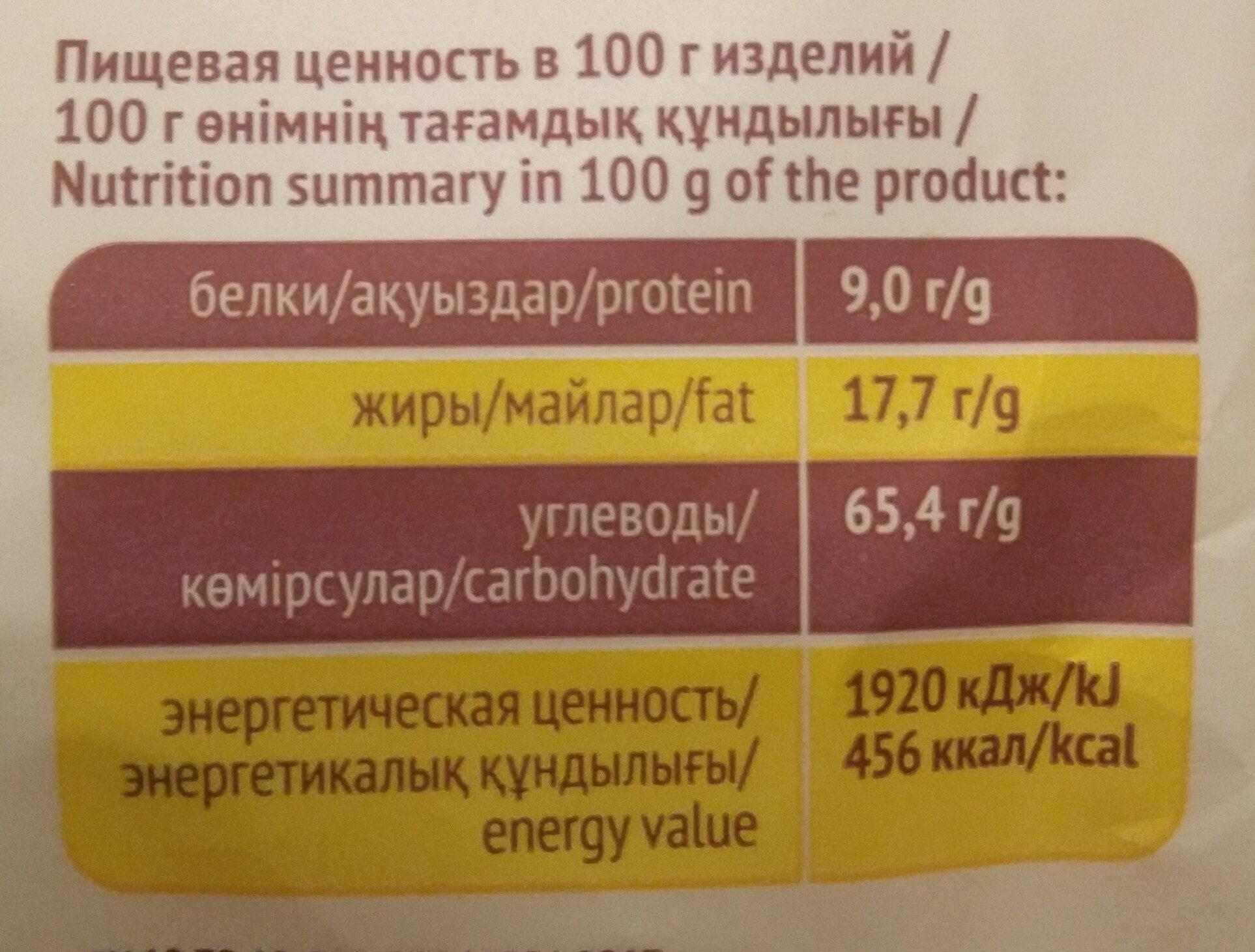 Печенье затяжное «Тютельки» - Пищевая и энергетическая ценность - ru