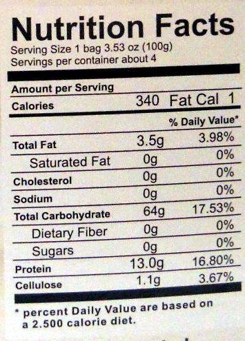 Хлопья гречневые - Nutrition facts - en