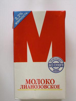 Молоко Лианозовское 3,2% - Product - ru