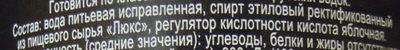 Водка «Старая Москва» - Ingredients - ru
