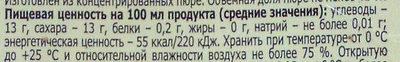 Персик-Яблоко - Nutrition facts