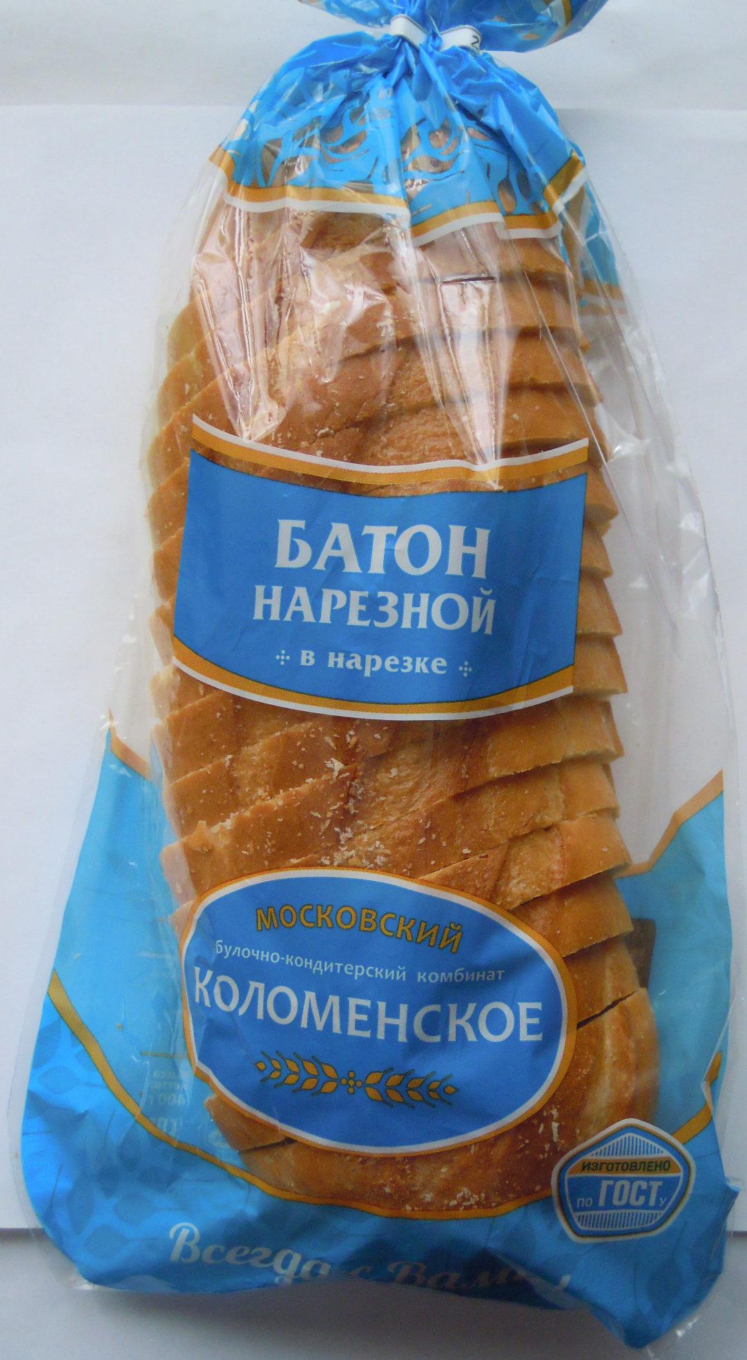 Батон нарезной в нарезке - Product - ru