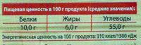 Бутерхлеб зерновой - Nutrition facts - ru