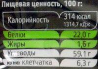 Фасоль Кидни темно-красная - Nutrition facts - ru