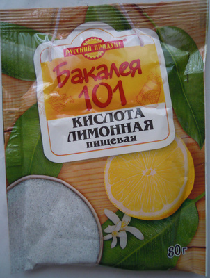 Кислота лимонная пищевая «Бакалея 101» - Продукт - ru