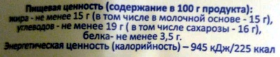 Мороженое Пломбир - Nutrition facts