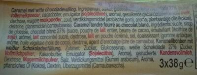 Mentos Choco & Caramel - Ingrediënten - de