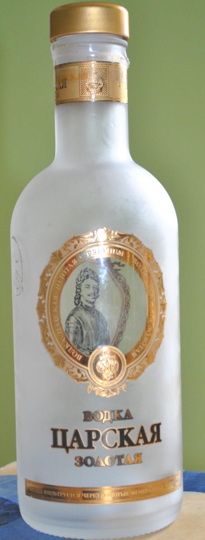 "Wodka ""zarskaja Solotaja"" 0,5 L, - Produit - fr"