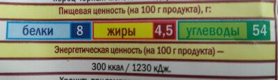 Суп грибной - Informations nutritionnelles - ru