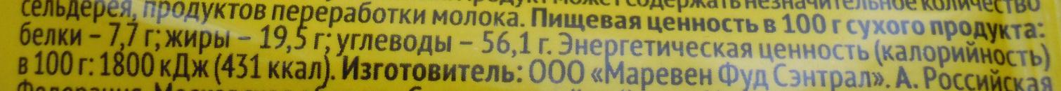 Куриная лапша по-домашнему - Nutrition facts - ru