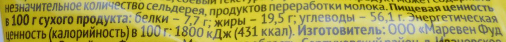 Лапша с говядиной «по-домашнему» - Informations nutritionnelles