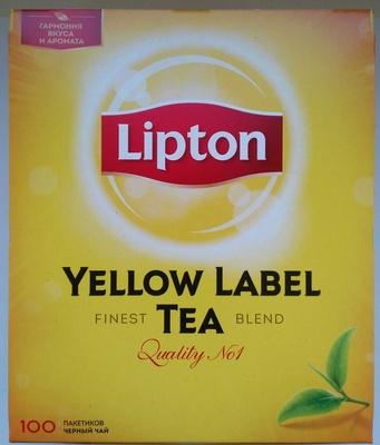 Чай черный байховый Lipton Yellow Label Tea - Produit - ru