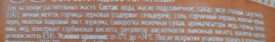 Баварский медово-горчичный соус - Ingredients