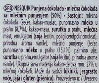 Nesquick - Ingredients