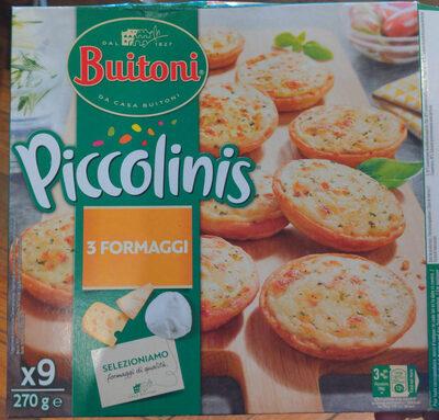 Piccolinis 3 Fromages - Produit - fr