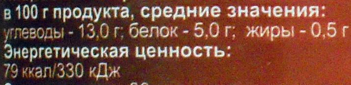 Фасоль красная натуральная - Informations nutritionnelles - ru
