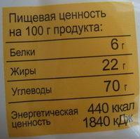 Тарталетки Original - Voedingswaarden - ru