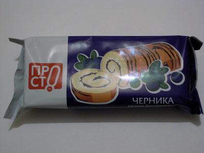 Рулет бисквитный ЧЕРНИКА - Produit - ru