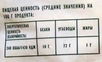 Спирали (макаронные изделия) - Voedingswaarden - ru