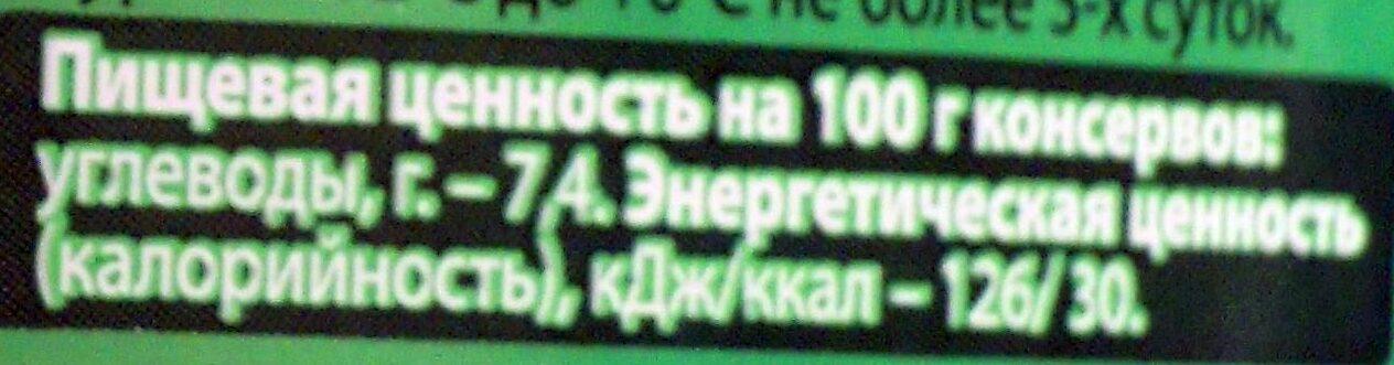 Пикули Одесские - Пищевая и энергетическая ценность - ru