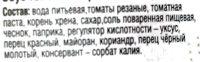 Соус Хреновина - Ингредиенты
