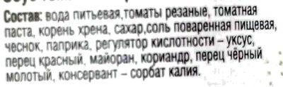 Соус Хреновина - Ingredients