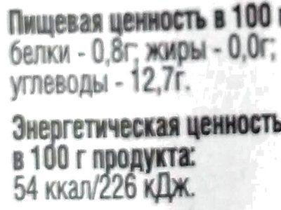 Соус Хреновина - Nutrition facts