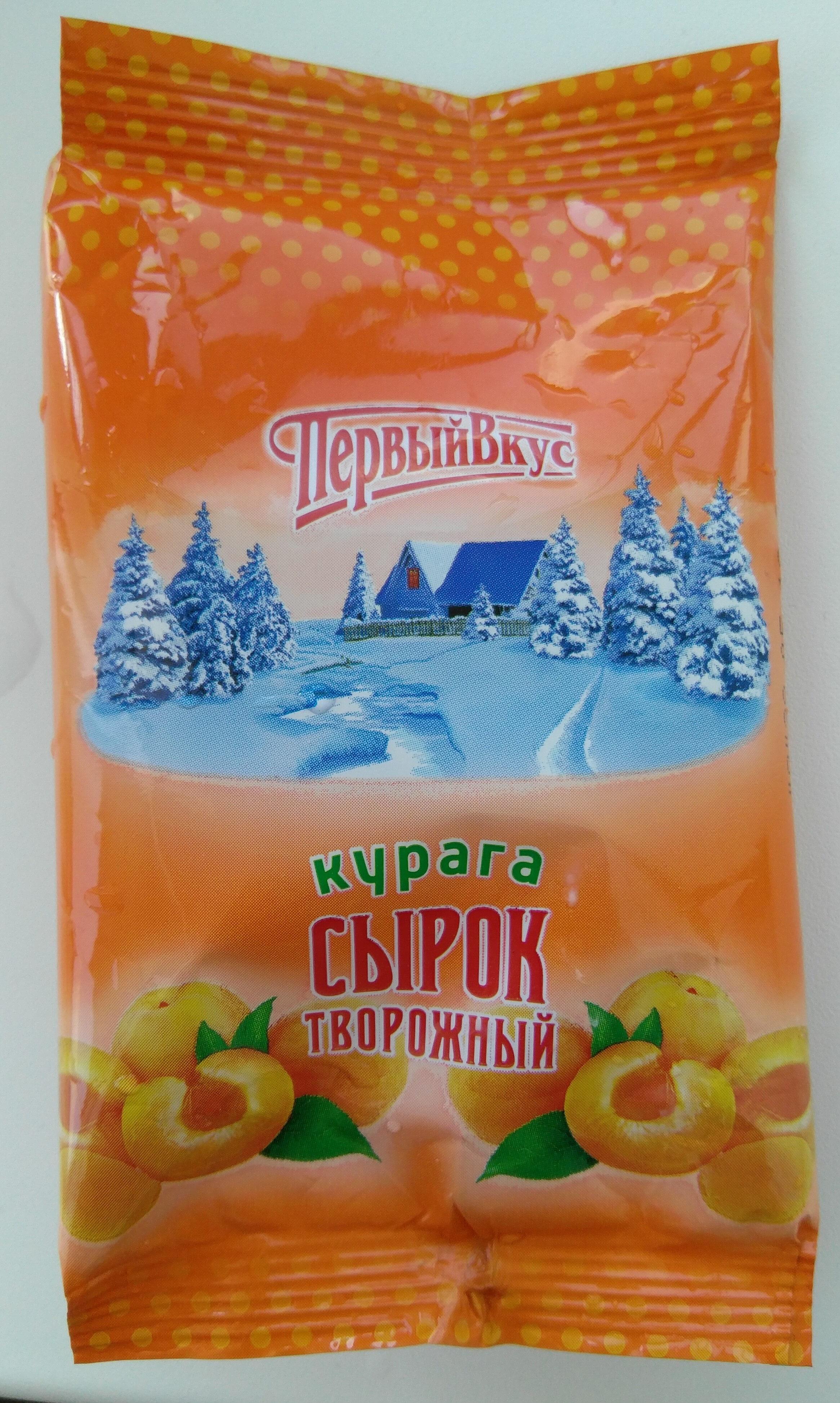 Сырок творожный с сахаром и курагой с массовой долей жира 4,5% - Продукт - ru