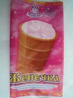 мороженое с заменителем молочного жира ванильное в вафельном стаканчике «Женечка» - Produit