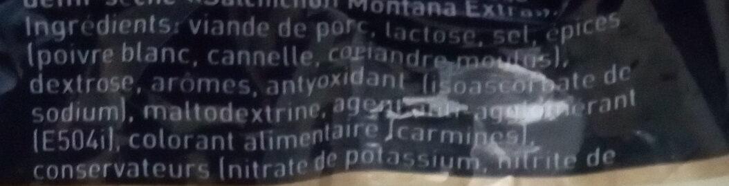Salchichon Montana Extra - Ingredients - fr