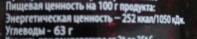 Варенье черничное - Voedingswaarden - ru