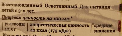 Благородное яблоко. 100 % сок - Ingredients - ru