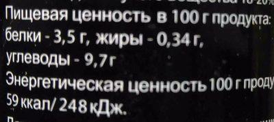 Томатная паста - Informations nutritionnelles