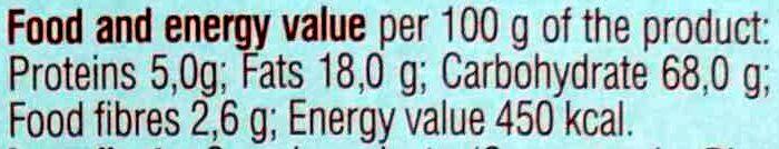 Подушечки Вкусти-хрусти с ореховой начинкой - Nutrition facts