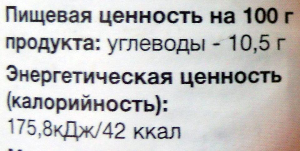 Аджика «Кавказская» - Nutrition facts - ru
