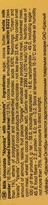 Алёнка - Ingredients