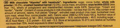Алёнка - Ingrediënten