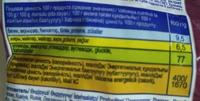 Компашки бекон - Informations nutritionnelles