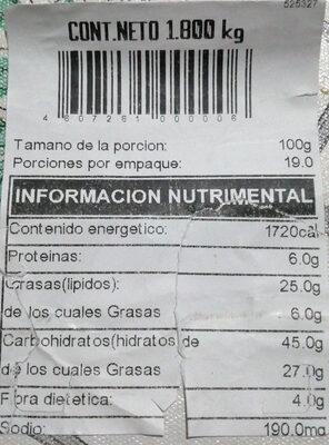 Pastel de zanahoria Costco - Información nutricional - es