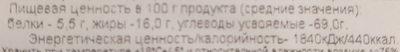 """Печенье сдобное длительного хранения """"Неженка"""" с фруктово-ягодной начинкой (черника) - Voedingswaarden - ru"""