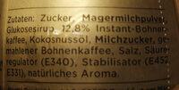 Cappuccino Cremig Zart - Inhaltsstoffe - de