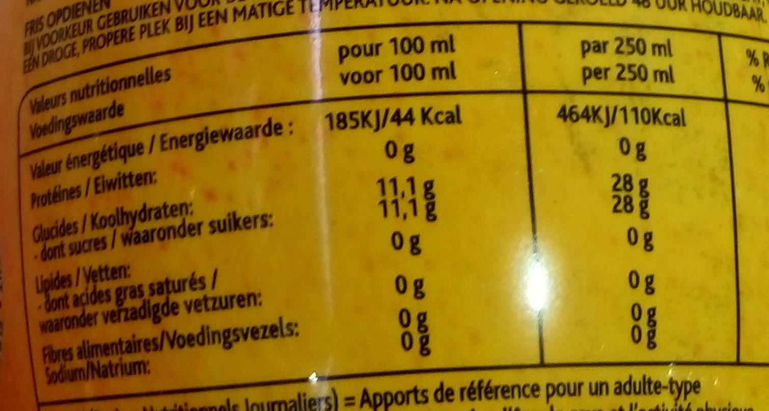 Limonade Poire à base d'eau de montagne - Informations nutritionnelles - fr