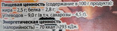 - Nährwertangaben - ru