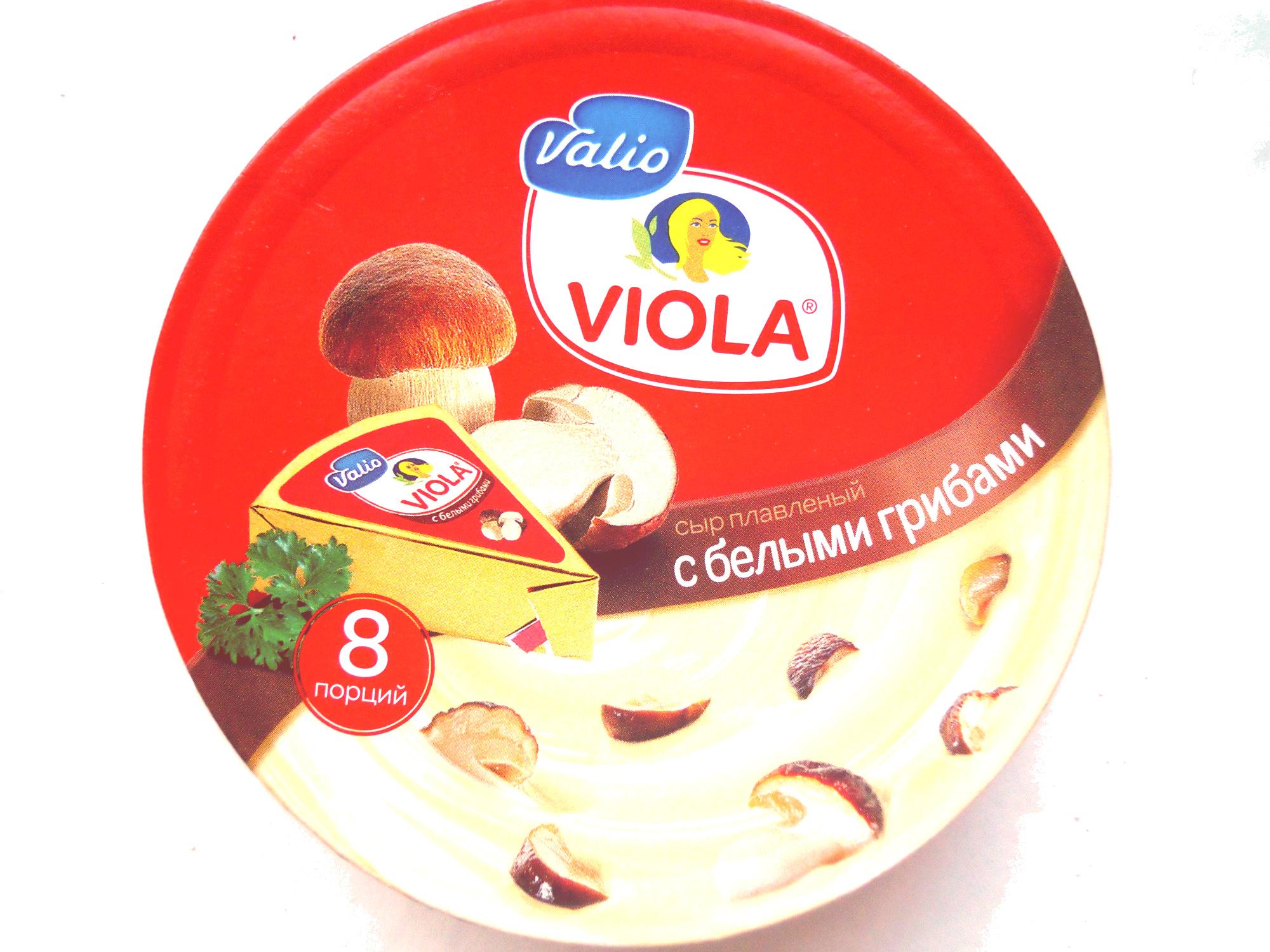 Сыр плавленый «Viola» «в треугольниках» с белыми грибами - Product - ru