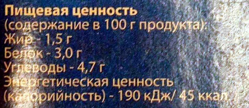 Молоко 1,5 % - Voedingswaarden - ru