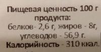 """суфле """"Ворожея"""" с ароматом ванили в кондитерской глазури - Nutrition facts"""
